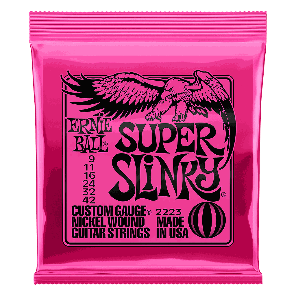 Ernie Ball - Encordado para Guitarra Electrica Super Slinky Rosa Mod.2223